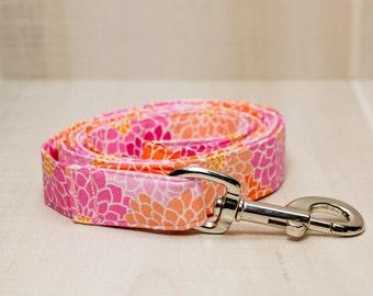 Dog Leash, Pink Floral Dog Leash