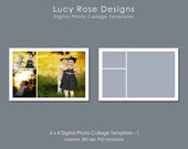 6 x 4 Photo Collage Template - 1