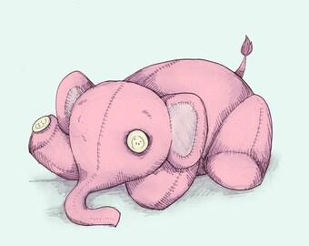 Eyeless Elephant Fine Art Print
