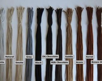 """Deerskin Lace Premium Grade 1/8"""" - 3 mm x 36 inches Long. 75 Total Feet - Deerskin Lace, Deerskin, Deer, Leather, Lace, Black, Deerskin"""