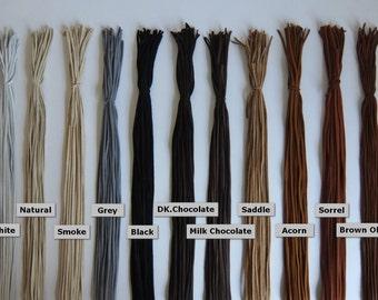 "Deerskin Lace Premium Grade 1/8"" - 3 mm x 36 inches. 75 Total Feet - Deerskin Lace, Deerskin, Deer, Leather, Lace, Black, Deerskin Leather"