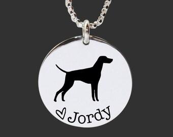 Vizsla Necklace | Vizsla Jewelry | Personalized Dog Necklace | 925 Sterling Silver Necklace by Korena Loves