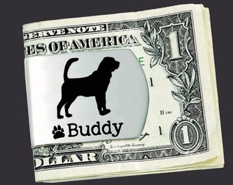 Bloodhound Money Clip   Bloodhound Hound   Custom Money Clip   Dog Gift   Fathers Day   Gift for Men   Money Clip   Korena Loves