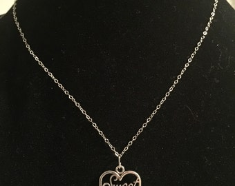Simple Sweet 16 Charm Necklace