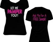 Let Me PAMPER You Posh Glitter Print Shirt - Perfectly Posh Inspired Glitter Shirt - Posh Pampering Inspired Glitter Shirt - Posh Shirt