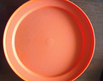 Orange Tupperware Bowl Lid Servilier Lid Tupperware Vintage Cover Replacement Kitchen Storage 1207-13