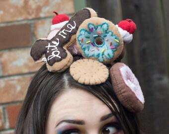 Blue Sprinkle Doughnut Hairpiece