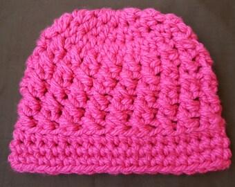 12-18 month warm textured crochet hat