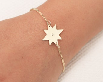 Gold Star Bracelet Dainty Layered Bracelet Delicate gold filled or Silver Bracelet Everyday Jewelry Bridesmaid Gift.