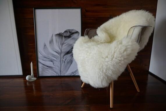 Wunderschöne echte natürliche Riesen Schaffell Teppich