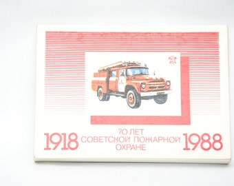 Vintage collectible matchbox set soviet time firecar 70 anniversary