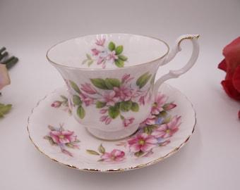 Vintage English Bone China Royal Albert Mis Matched Teacup and Saucer - English Tea Cup