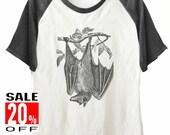 Bat shirt animal shirt funny shirt short sleeve shirt unisex size S M L