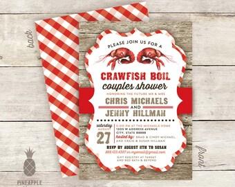 Crawfish Boil Couples Shower Invitation Proof