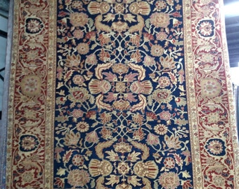 1980s Hand-Knotted Vintage Mahal-Style Chinese Rug (1140)
