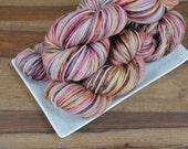 Incendio on Pine, Superwash Merino DK Weight Hand-dyed Yarn