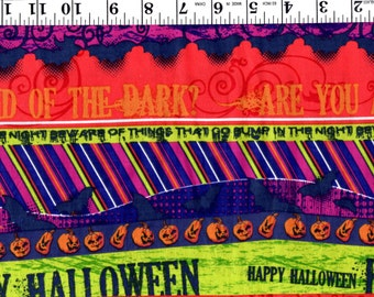 1 Yard 23 inches, Halloween Scene Multi Color