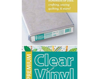 """Premium Clear Vinyl - 12 Gauge - Durable and Flexible - Sewing Projects - 18"""" Wide - Waterproof - Crafting Supply"""