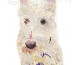 Wheaten Scottie Dog  Art Print #61 Scottish Terrier