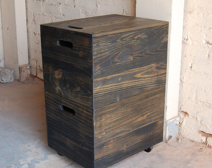 File Cabinet/ Office Furniture/ Portable File Storage/ Crate/ Reclaimed Wood