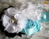 x { Classic Alice } Headband, Baby Headband, Photography Prop, Couture Headband, Hair Clip, Alice Headband, Wonderland Headband, White Blue