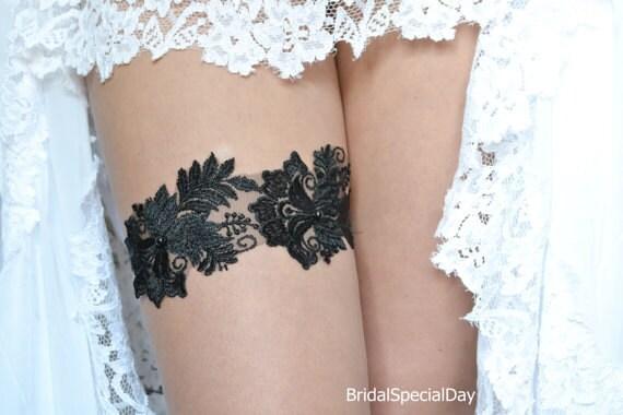 Black Lace Garter Wedding Garter Set Bridal Garter Black