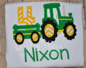 Tractor Birthday Personalized Shirt