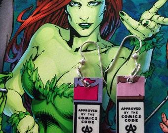 Comic Earrings - Comics Code Authority