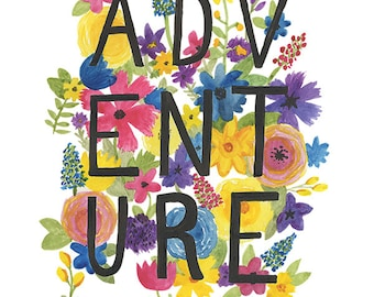 Adventure - Archival watercolor art print