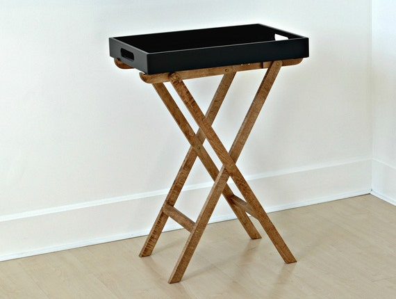 Folding Tray Table, Bar Cart, Butler Tray Stand, Side Table, Living Room  Decor, Entryway Furniture, Tray Stand, Serving Tray Cart