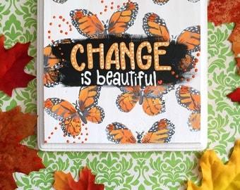 RETIRING Butterfly wooden sign