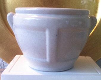 Bristol White Vase, Arts and Crafts Era, Zanesville Stoneware, Matte Glaze, 2 Handles, Arts & Crafts Era, Shape BA-4, FREE SHIPPING