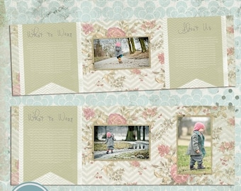 ON SALE 5x5 inch trifold card template - INSTANT Download
