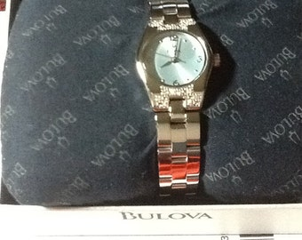 Vintage Bulova Watch!! New and Unused!! 16 Diamonds!!