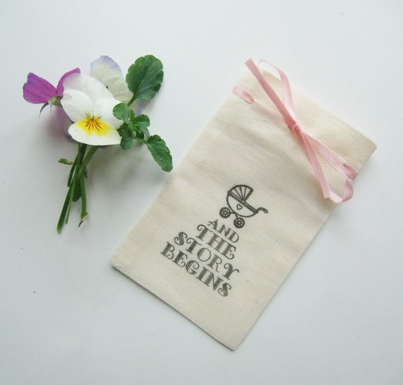 baby shower favor bags baby shower favors and the story begins 5x3