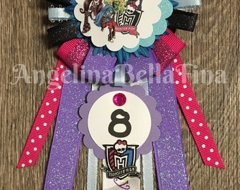 Monster High Themed Children's Birthday Corsage