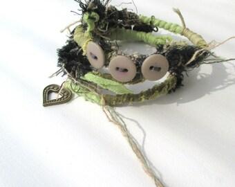 Tribal Bracelets, Wire Wrapped Boho Bracelet Wrapped, Gypsy Bracelet, Freeform Bracelet, Stack Bohemian Bracelet