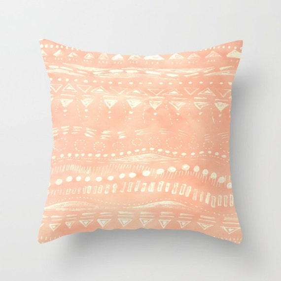 Pink Outdoor Throw Pillow Cover geometric pillow pink by lake1221