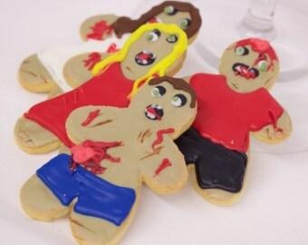 Zombie Cookies, Walkers, Fondant Icing, Cookies
