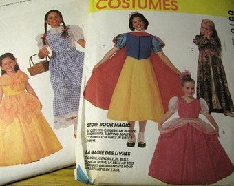Vintage McCalls 6810 Halloween Costume Sewing Pattern Girls Size 4, 5  Never Used - Cinderella, Sleeping Beauty, Dorothy, Snow White, Beauty
