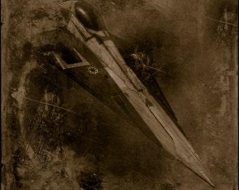 Star Wars Jedi Starfighter Limited Edition Photographic Art Print