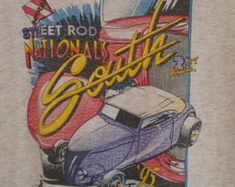 Vintage 90s 1995 NSRA Street Rod Nationals South Knoxville T Shirt L