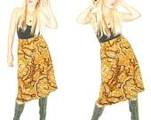 Paisley Skirt . 60s Skirt . 70s Skirt . High Waist Skirt . Hippie Skirt . Flower Print . Floral print . Paisley Print