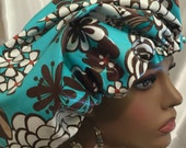 Chocolate Summer-Satin Lined Shower Cap