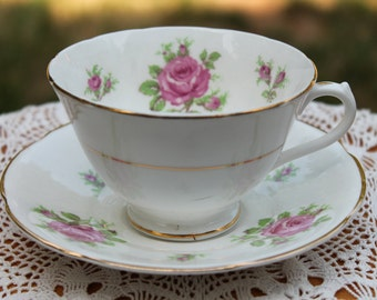 COLLINGWOODS Bone China Teacup and Saucer Set