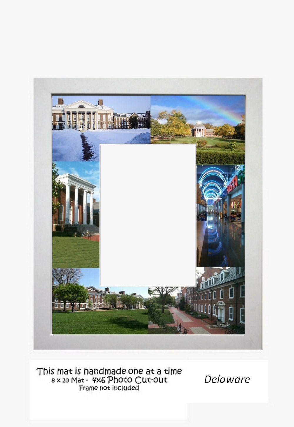 University Of Delaware Picture Frame Photo Mat Unique