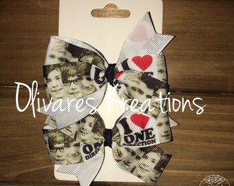 One Direction Inspired Bow Set