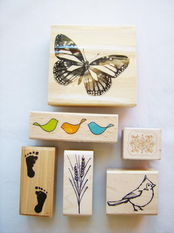 Rubber stamp craft supplies -  18 50