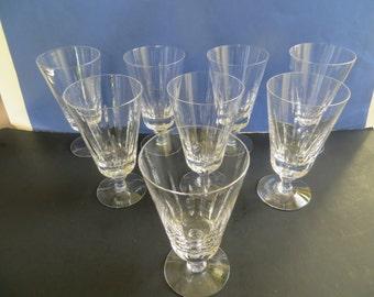 Fostoria Tiara-Clear Iced Tea Glasses Set of 8