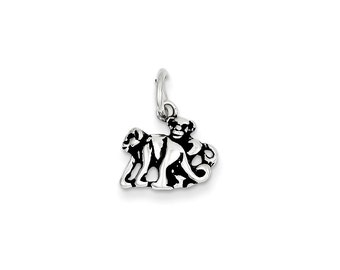 Sterling Silver Antiqued Monkey Charm